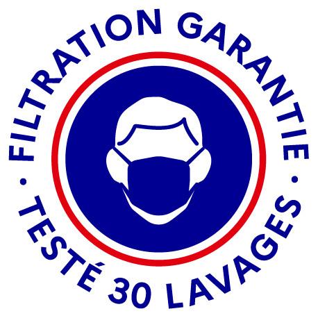 Paquet de 100 masques Barrière MERCURE lavables fabriqués en Europe