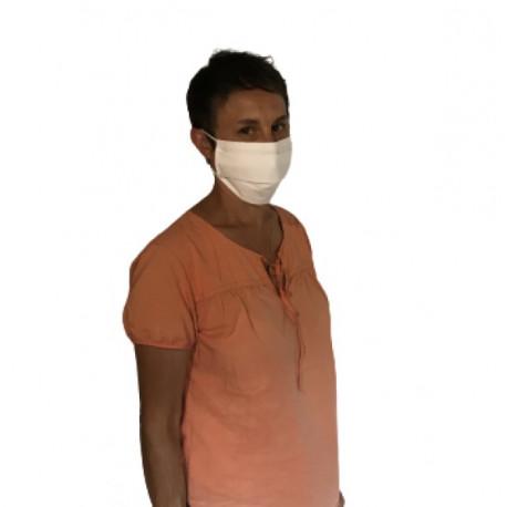 Paquet De 2 Masque Barrière Tissu Deux Couches Lavable Fabriqué En France AFNOR E