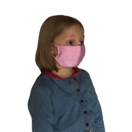 Masque Barrière AFNOR Tissu Deux Couches ENFANT Lavable Fabriqué En France