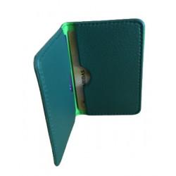 Protège-CB Simili cuir 2 /4 cartes  vert anglais