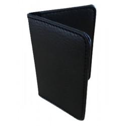 Protège-CB Simili cuir 2 /4 cartes  noir