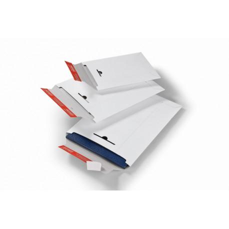 Pochette d'expédition blanche en carton rigide160x175