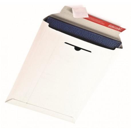 Pochette d'expédition blanche en carton rigide235x310x -30