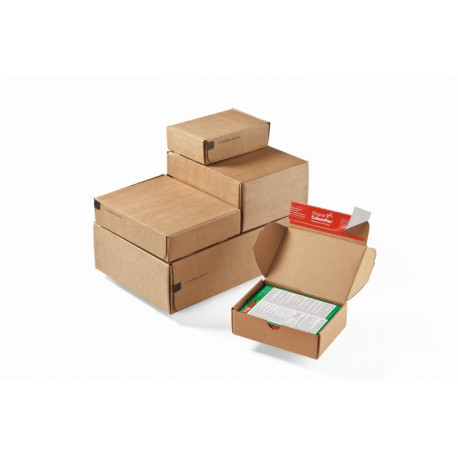 Le système modulaire, boite format 1 à 4 pour expedtion de petites pièces, carton brun192x155x43