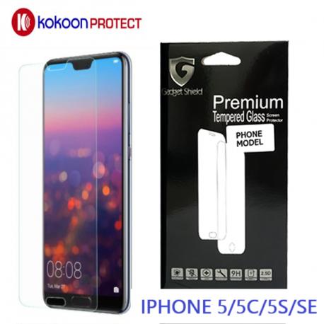 Protège écran en verre trempé pour iPhone 5/5S/5C/5SE