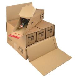 Suremballage pour envoi de 3 à 6 bouteilles375x365x250