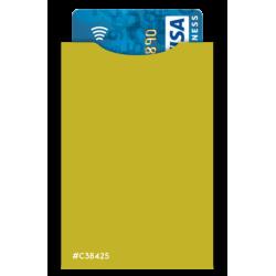 Protège CB Barrière RFID 4 cartes Cuir Marron foncé