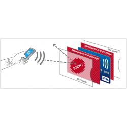 Protège CB Barrière RFID 6 cartes Cuir Marron foncé