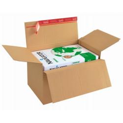 carton à fond automatique de hauteur variable avec fermeture adhésive et bande d'arrachage229x164x50-115