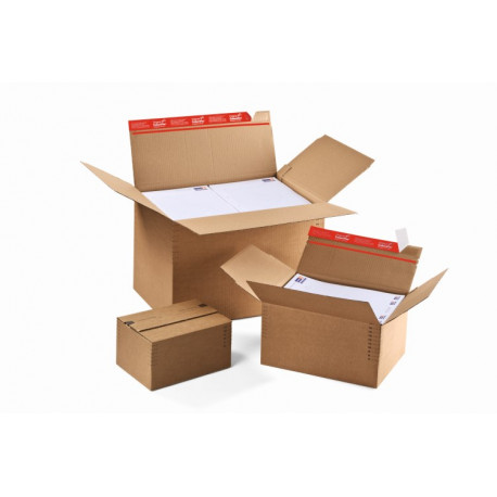 carton à fond automatique de hauteur variable avec fermeture adhésive et bande d'arrachage304x216x130-220