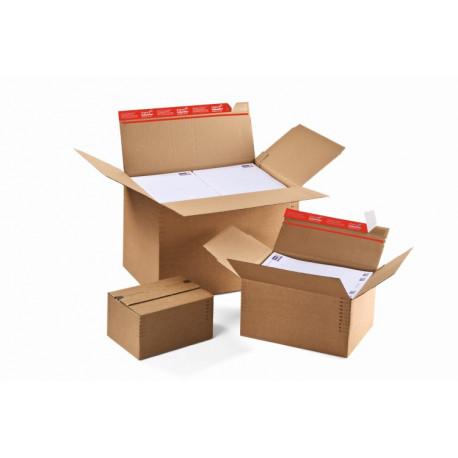 carton à fond automatique de hauteur variable avec fermeture adhésive et bande d'arrachage305x228x70-160