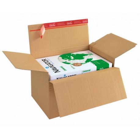 carton à fond automatique de hauteur variable avec fermeture adhésive et bande d'arrachage344x290x32-132