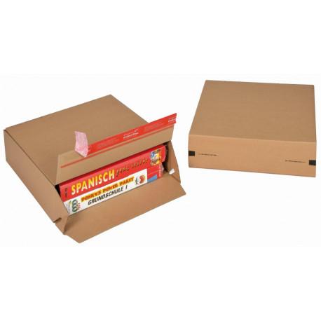 Boite Euroboxes, fermeture autocollante COLOMPAC, bande d'arrachage kraft brun taille M294x94x287