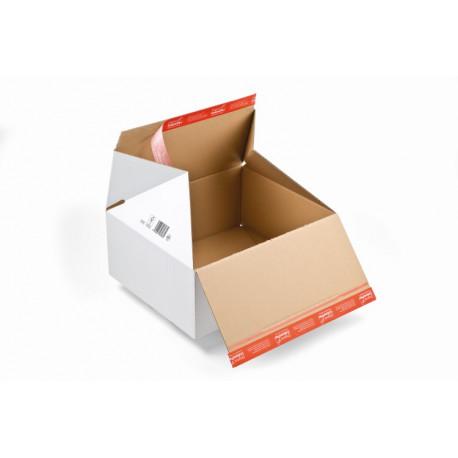 Carton à fond automatique PREMIUM, et double fermeture autocollante306x186x127
