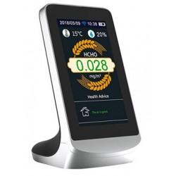 Détecteur de qualité de l'air multifonctions avec écran LCD