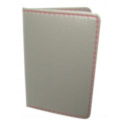 Protège-CB Simili cuir 2 cartes Gris