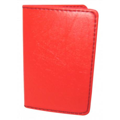 Protège-CB Simili cuir 2 cartes Rouge