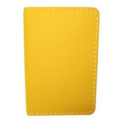 Protège-CB Simili cuir 2 cartes Jaune