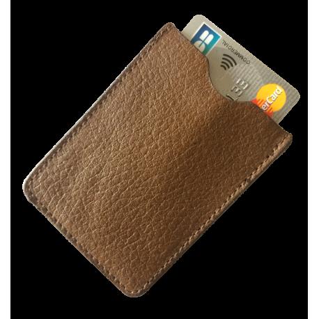 Protège CB Barrière RFID 1 carte Cuir Marron