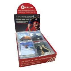 Présentoir de 40 Protège CB Barrière RFID Visuels Montagne