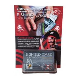 Présentoir de 10 cartes Barrière RFID E-Shield