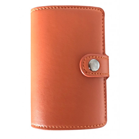 Présentoir de 8 portefeuilles Barrière RFID en cuir PU & métal