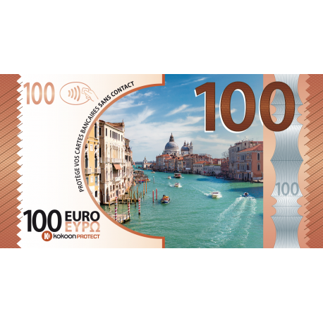 Billet Barrière RFID Kokoon Banknote Visuel Italie