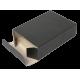 Porte cartes Barrière RFID Aluminium & Simili cuir noir