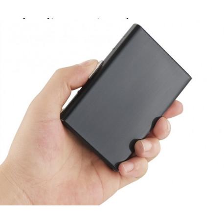 Porte cartes Barrière RFID Metal Noir