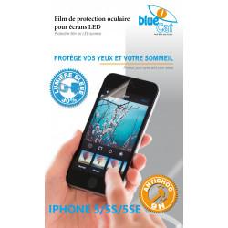 Verre trempé anti lumière bleue 30% pour iPhone 5/5S/5SE