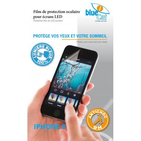 Verre trempé anti lumière bleue 100% pour iPhone 8