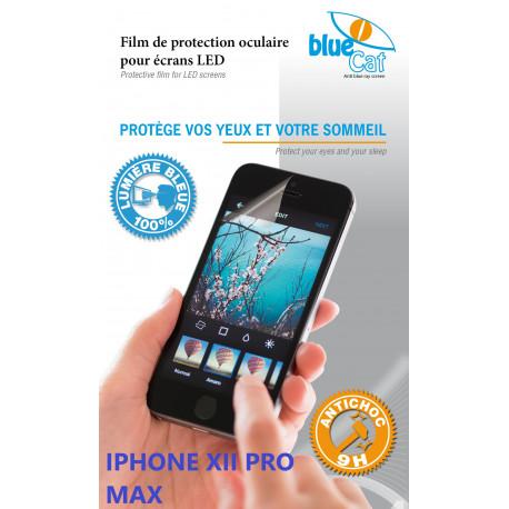 Protection verre trempé anti lumière bleue 100% Bluecat screen Premium pour iPhone XII PROMAX