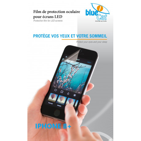 Filtre anti lumière bleue pour iPhone 8+
