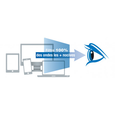 Filtre anti lumière bleue pour tablette 9,7'' ou inférieur