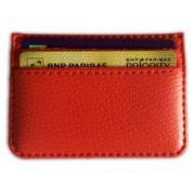 Protège carte bancaire simili cuir 4 cartes rouge